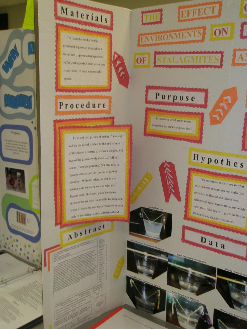 Mr. Barrow\'s Science Center - Lab/Science Fair Board Format